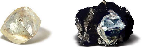 gambar berlian mentah sebelum proses pemotongan
