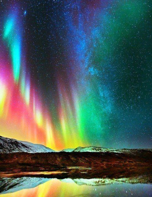 Aurora Rainbow Colors Pelangi