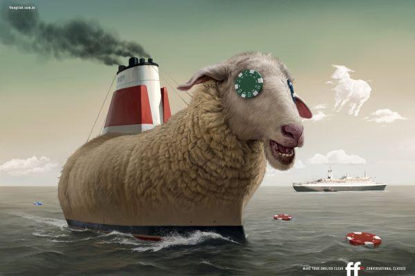 FF English School Sheep Creative Advertisement