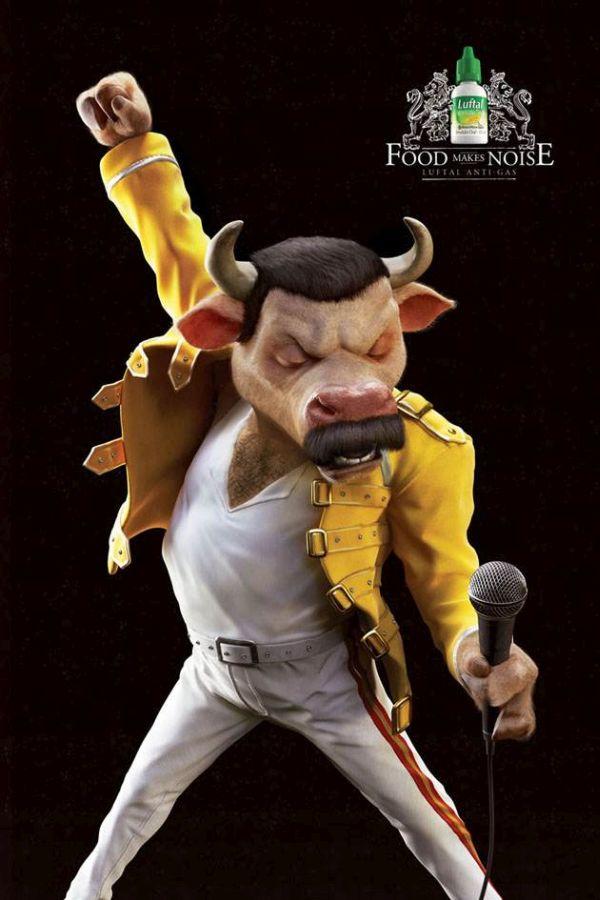 Luftal Creative Advertisement Freddie Mercury
