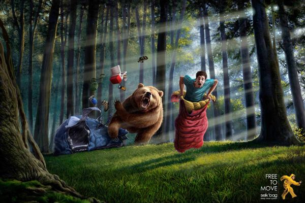 Selkbag Bear Creative Advertisement