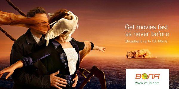 Volia Broadband Titanic Creative Advertisement