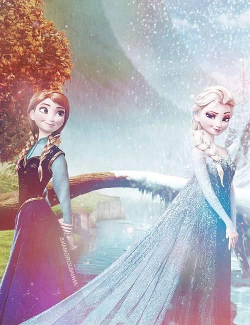 Gambar Foto Anna Elsa Frozen 5