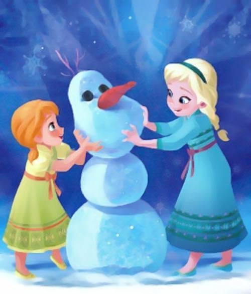 Gambar Foto Anna Elsa Frozen Kecil 10 Lampu Kecil