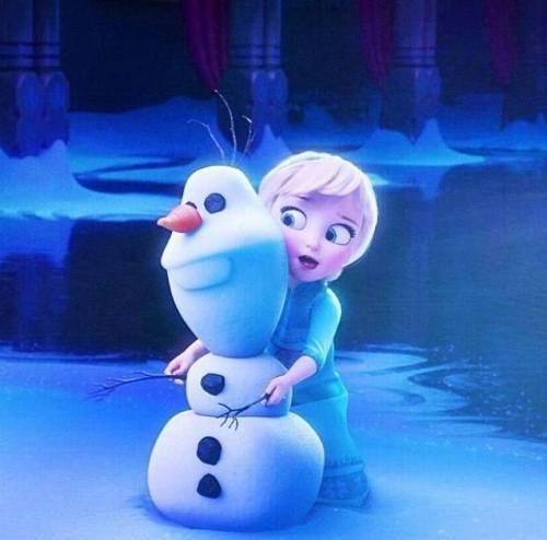 gambar foto elsa frozen kecil 7 lampu kecil