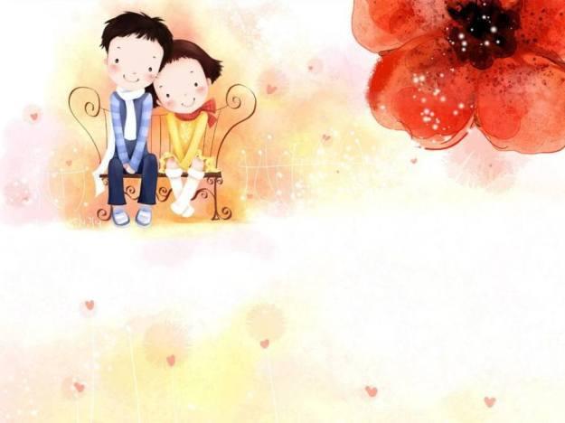 Gambar Ilustrasi Kartun Korea Cinta Kecil