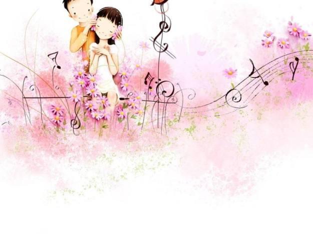 Gambar Ilustrasi Kartun Korea Cinta