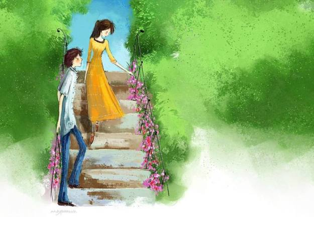 54 Gambar Kartun Imajinasi Romantis HD Terbaru