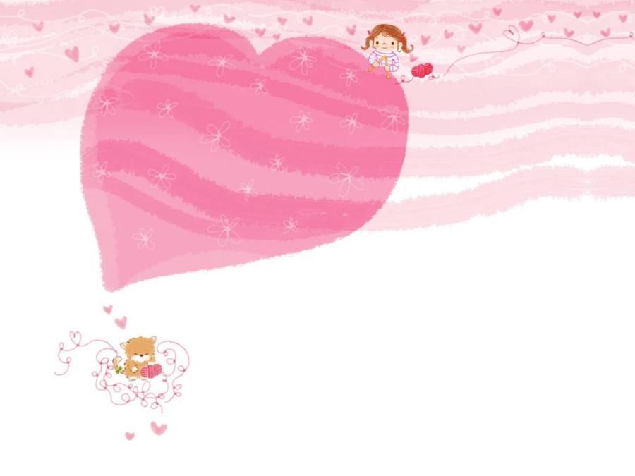 Gambar Ilustrasi Kartun Korea Heart Lampu Kecil