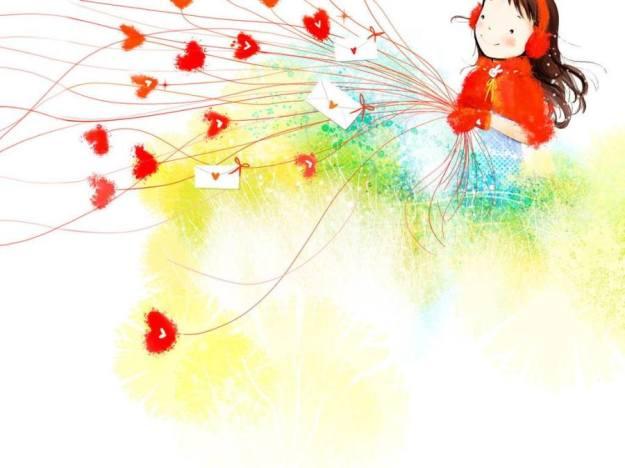 Gambar Ilustrasi Kartun Korea Love You