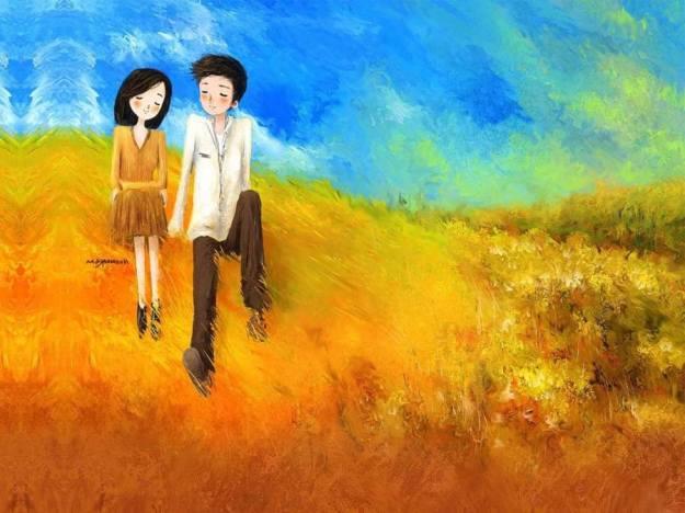 Gambar Ilustrasi Kartun Korea Love