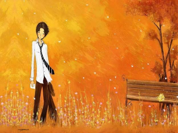 Gambar Ilustrasi Kartun Korea Patah Hati