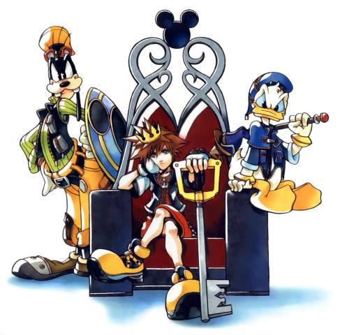 Gambar Kingdom Hearts Donal Bebek dan Goofy 2