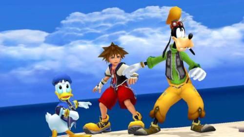 Gambar Kingdom Hearts Donal Bebek dan Goofy