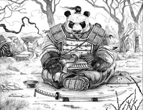 Gambar Panda Warrior