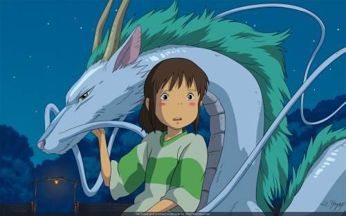 Spirited Away Haku and Chihiro 2