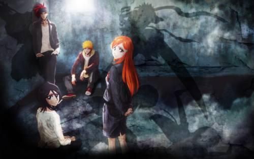 Gambar Bleach Ichigo Chad Inoue Rukia Ishida 2
