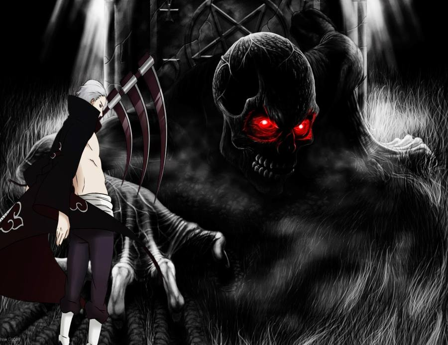 Gambar Naruto Wallpaper Akatsuki Hidan Lampu Kecil