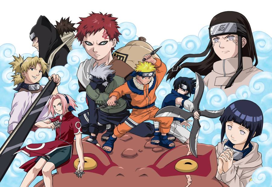 Gambar Poster Naruto Wallpaper All Friend Lampu Kecil