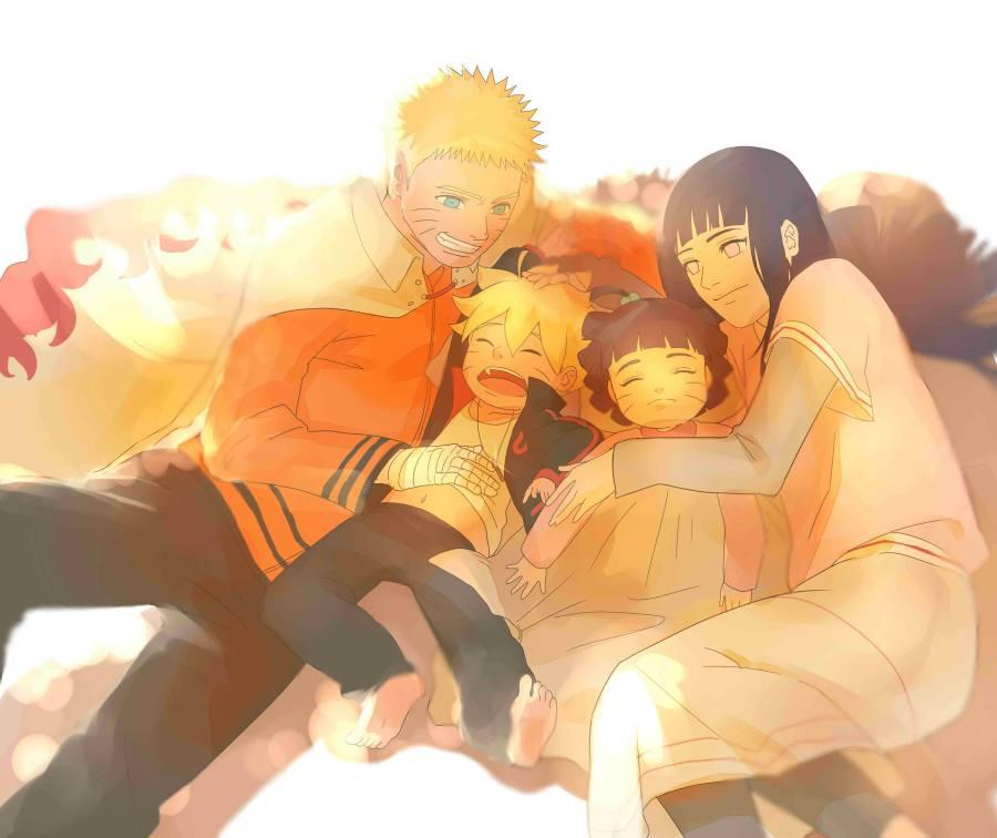 Gambar Poster Naruto Wallpaper Hinata Family Lampu Kecil