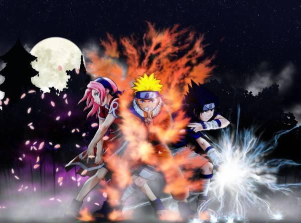 Gambar Poster Naruto Wallpaper Sakura Sasuke Chakra