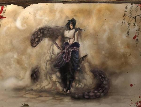 Gambar Poster Naruto Wallpaper Sasuke Uchiha