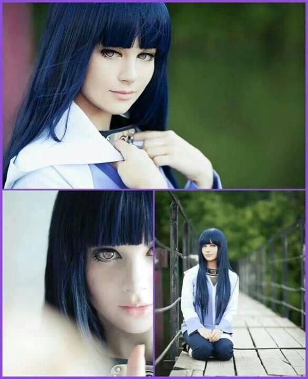 Gambar Poster Wallpaper Hinata Hyuga Naruto Cosplay Lampu Kecil