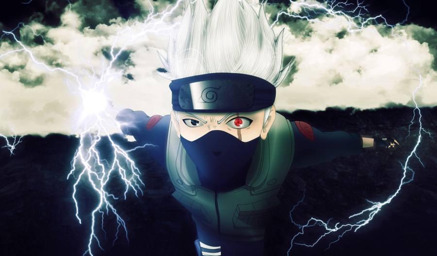 Gambar Poster Wallpaper Kakashi Hatake Naruto Lampu Kecil