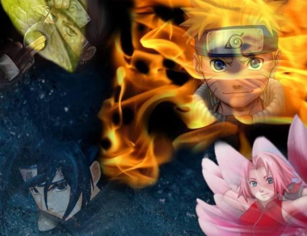 Gambar Poster Wallpaper Naruto Sasuke Sakura Kakashi