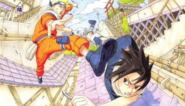 Gambar Poster Wallpaper Sasuke Uchiha Uzumaki Naruto Fight