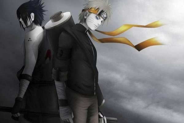 Gambar Wallpaper Naruto Shippuden Sasuke Uchiha Artistic