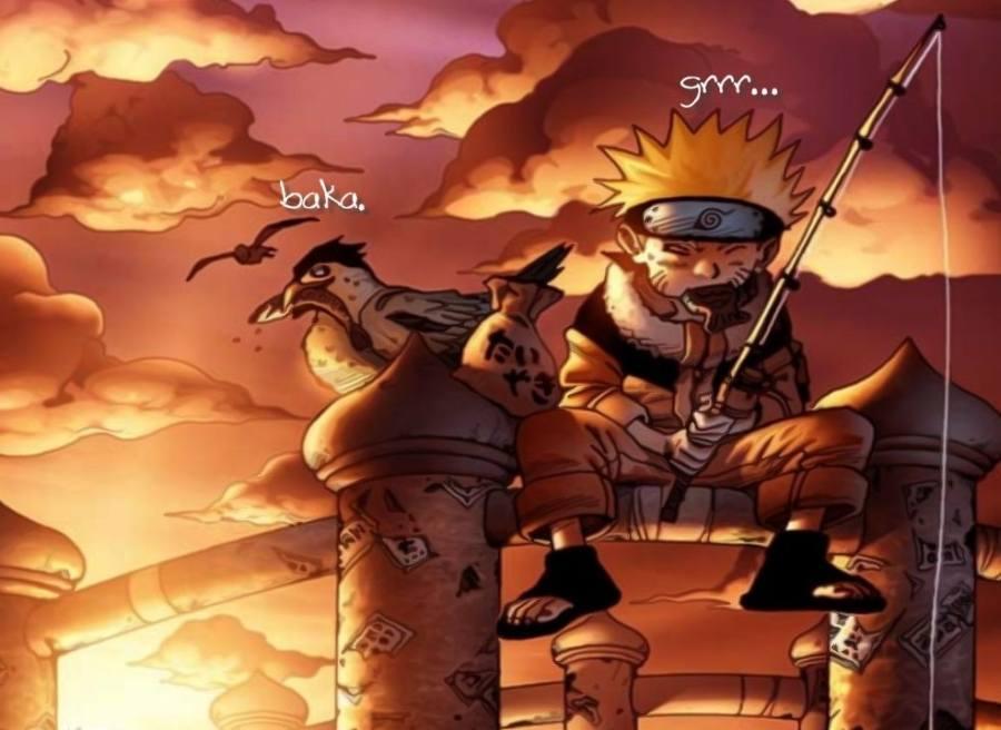 Gambar Wallpaper Poster Naruto Lucu Lampu Kecil