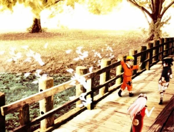 Gambar Wallpaper Poster Naruto Sakura Sasuke