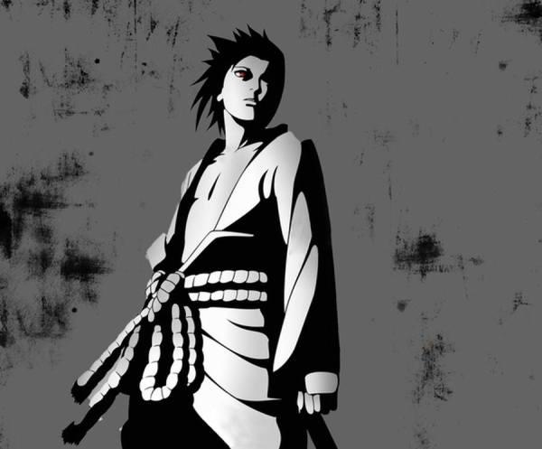 Poster Gambar Wallpaper Sasuke Uchiha Naruto Shippuden Sharingan