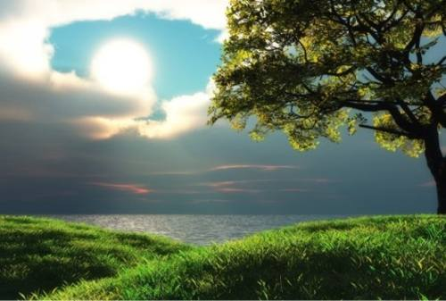 Pemandangan santai tenang indah