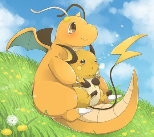 Pokemon Dragonite and Raichu