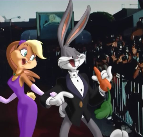 Bugs bunny and Lola Bunny looney tunes