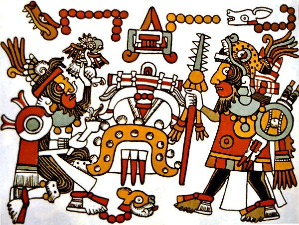 aztec drawing seni art