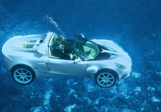amphibious car underwater luxurius