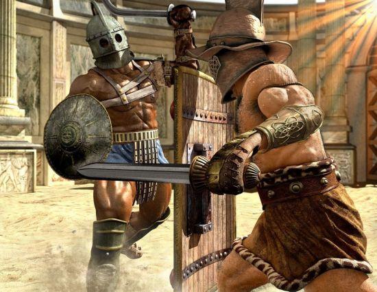 Priscus and Verus Gladiator