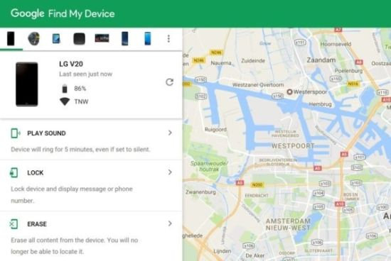 google find my device phone